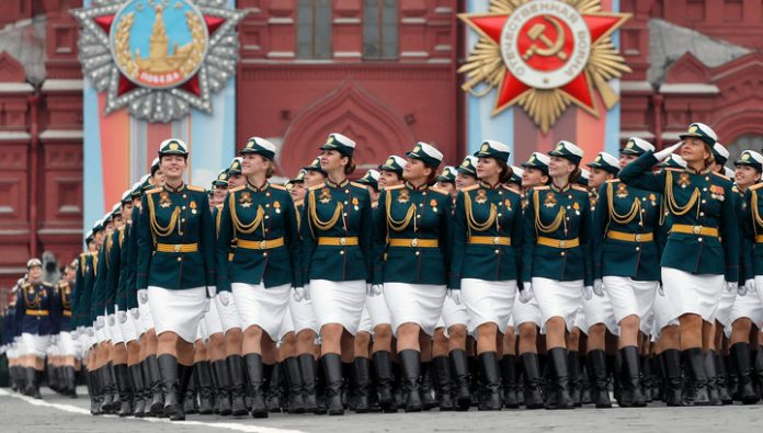 The centre of Moscow will block for the training of the Victory Parade