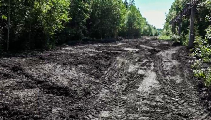 The road is tainted: new road in Petrozavodsk still not