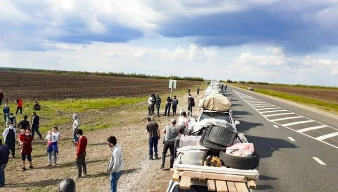 For stuck in the Orenburg region of migrants organized a transit corridor