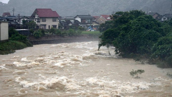 Mass evacuation of people was announced in southwest Japan due to heavy rains