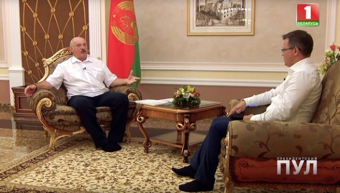 Respect the work of cleaners: Lukashenko came to the interview barefoot