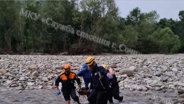 The man fell off a cliff in the Lazarev district of Sochi